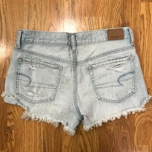 American Eagle Tom Girl Shortie Jean Shorts 6